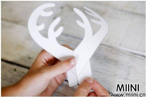 立体圣诞麋鹿贺卡手工制作
