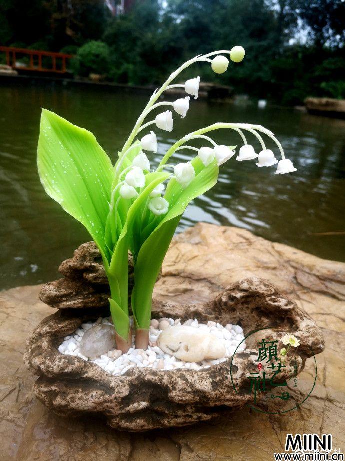 铃兰粘土花朵制作教程