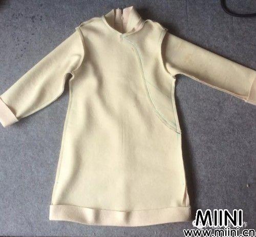 女童改良旗袍拜年服的详细制作