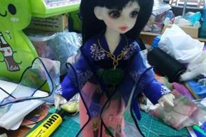bjd娃娃,唐风襦裙娃衣的制作教程