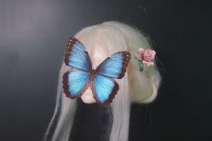 [假发制作过程]如何用毛线给你的娃娃制作一顶假发