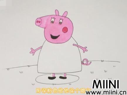 小猪佩奇怎么画?小猪佩奇画法步骤教程