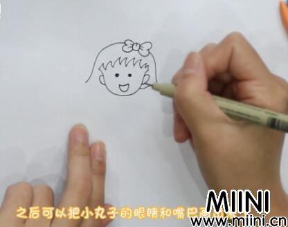 樱桃小丸子简笔画怎么画?樱桃小丸子简笔画步骤教程