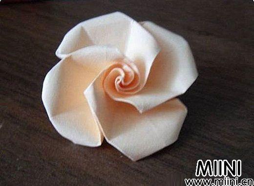 简单玫瑰花的折法10