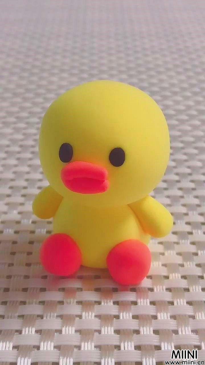 超简单的呆萌莎莉鸡粘土玩偶制作教程