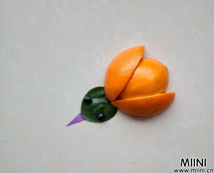 橙子小鸡拼贴画