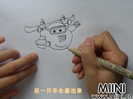 超级飞侠多多简笔画怎么画?超级飞侠多多简笔画步骤教程