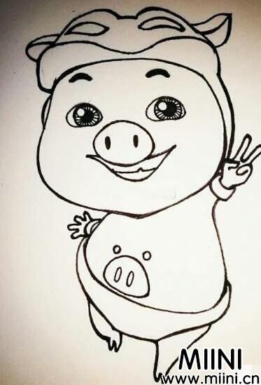 猪猪侠简笔画怎么画?猪猪侠简笔画教程