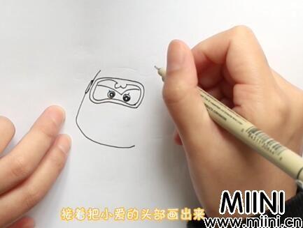 超级飞侠小爱简笔画怎么画?超级飞侠小爱简笔画步骤教程