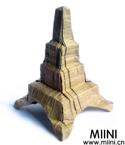 埃菲尔铁塔折纸教程 埃菲尔铁塔怎么折?