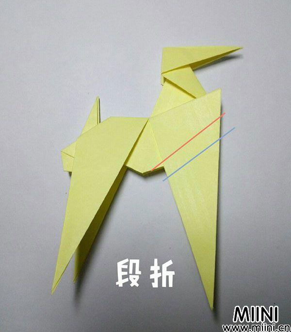 折纸鹿的折法图解教程,好看的鹿只需几步 第34步