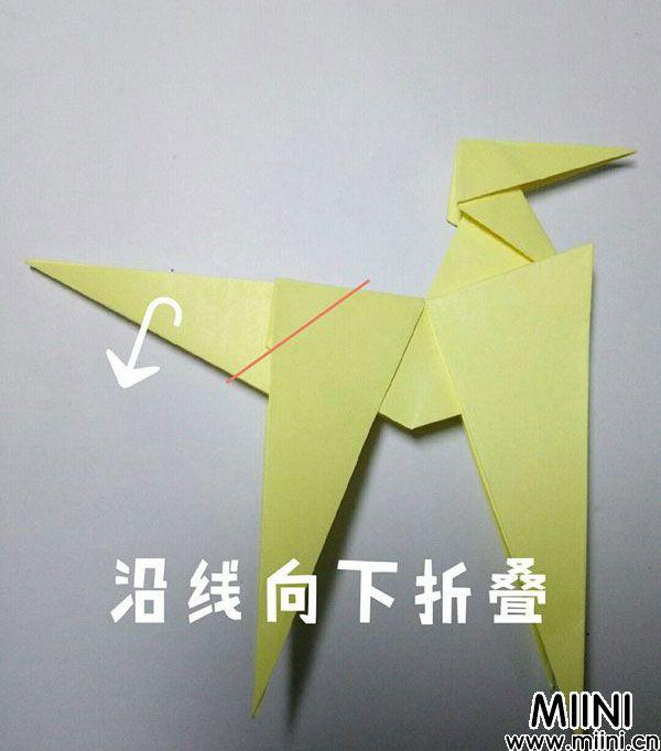 折纸鹿的折法图解教程,好看的鹿只需几步 第28步
