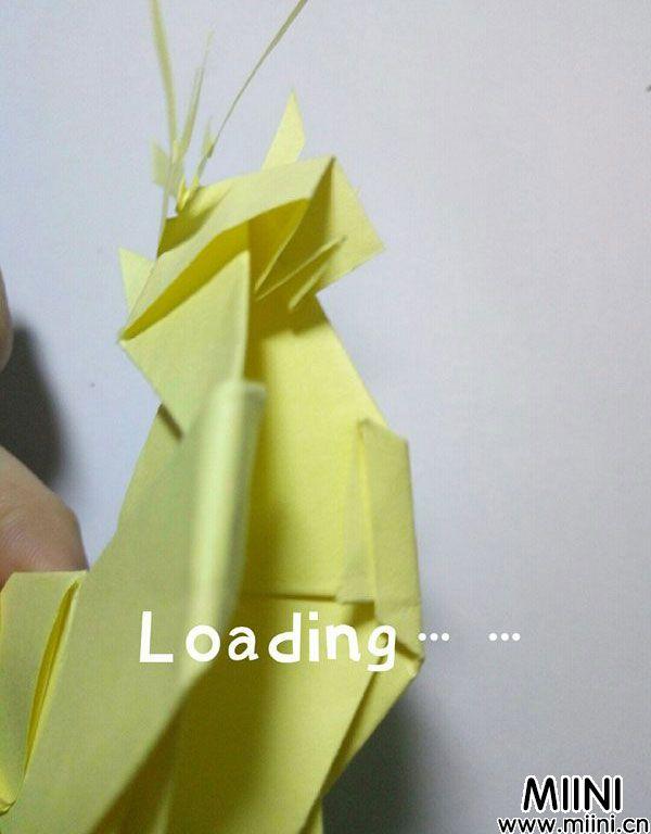 折纸鹿的折法图解教程,好看的鹿只需几步 第55步