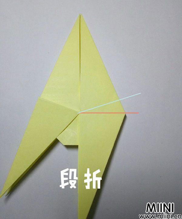 折纸鹿的折法图解教程,好看的鹿只需几步 第20步