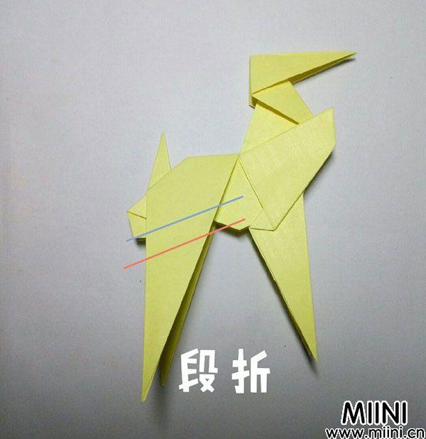 折纸鹿的折法图解教程,好看的鹿只需几步 第37步