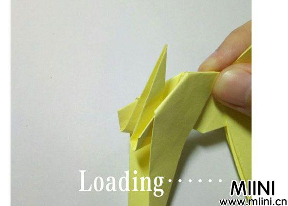 折纸鹿的折法图解教程,好看的鹿只需几步 第33步