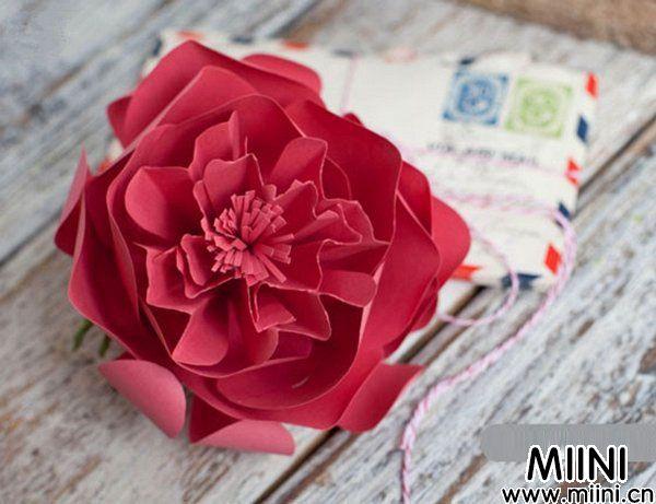 牡丹花纸花的制作3