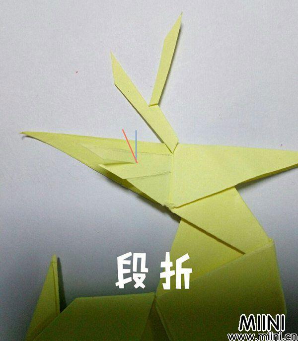 折纸鹿的折法图解教程,好看的鹿只需几步 第50步