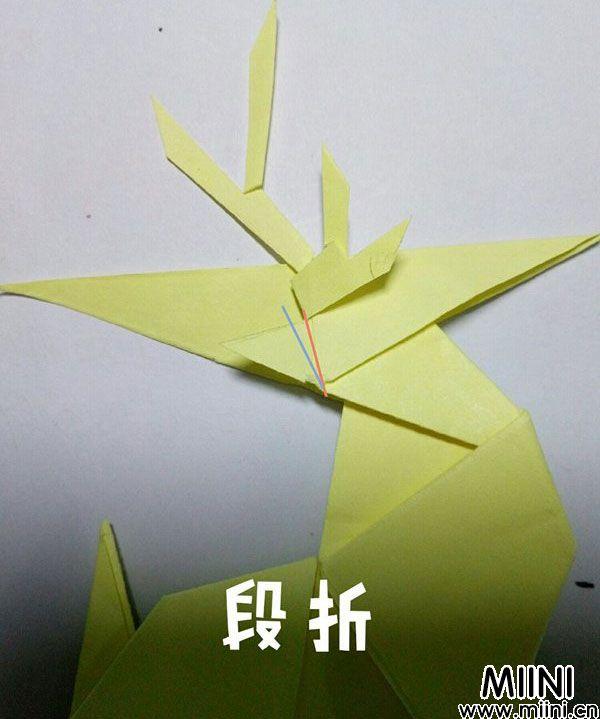 折纸鹿的折法图解教程,好看的鹿只需几步 第52步