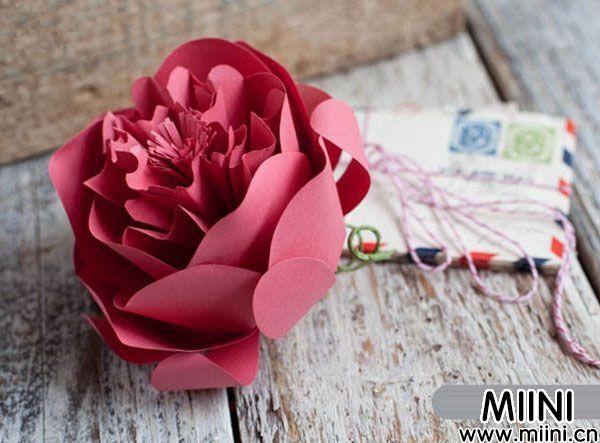牡丹花纸花的制作2