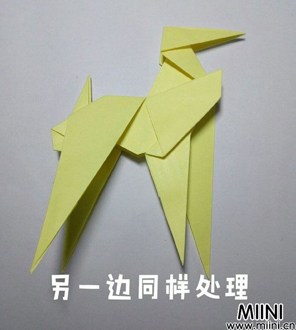折纸鹿的折法图解教程,好看的鹿只需几步 第36步