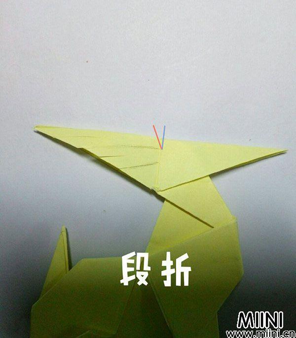 折纸鹿的折法图解教程,好看的鹿只需几步 第48步