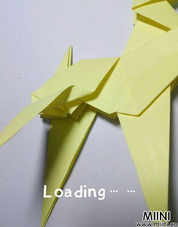 折纸鹿的折法图解教程,好看的鹿只需几步 第38步