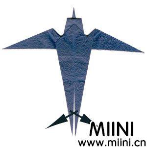 燕子折纸步骤教程图解 燕子折纸怎么折?