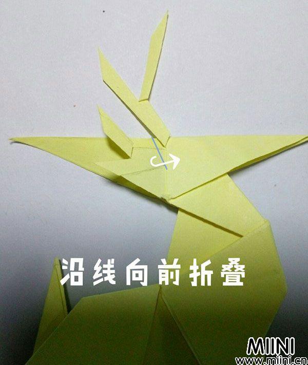 折纸鹿的折法图解教程,好看的鹿只需几步 第51步