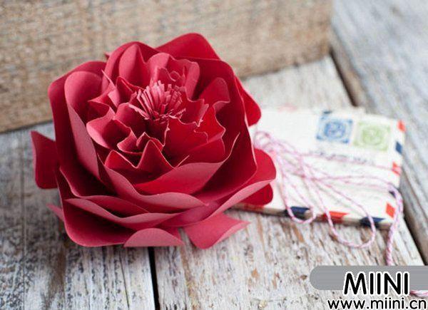牡丹花,纸花,纸艺花,牡丹