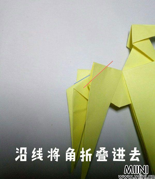 折纸鹿的折法图解教程,好看的鹿只需几步 第30步