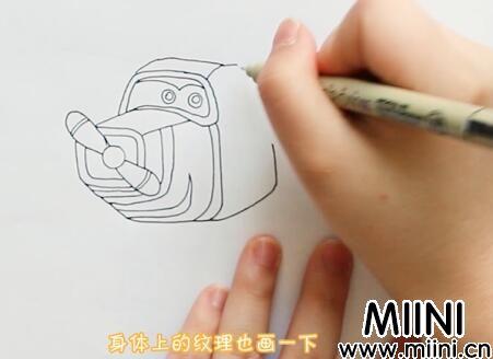 超级飞侠卡文简笔画怎么画?超级飞侠卡文简笔画教程