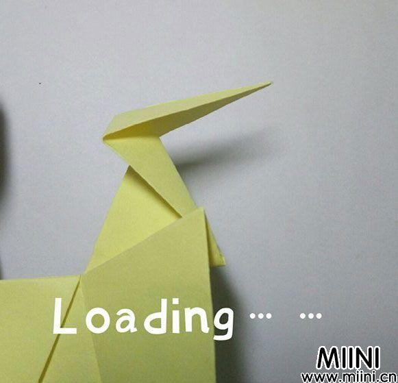 折纸鹿的折法图解教程,好看的鹿只需几步 第27步