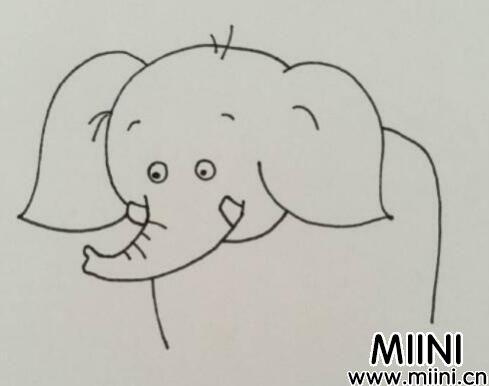 简单的大象简笔画怎么画?简单的大象简笔画步骤图