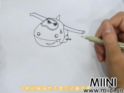 超级飞侠简笔画怎么画?超级飞侠简笔画步骤教程