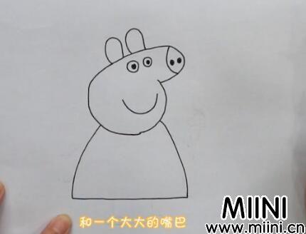 小猪乔治简笔画怎么画?小猪乔治简笔画步骤教程
