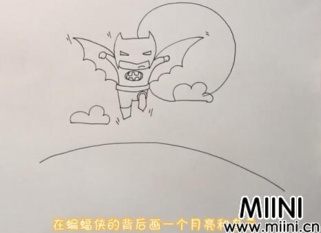 蝙蝠侠简笔画怎么画?蝙蝠侠简笔画步骤教程