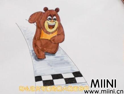 熊大简笔画怎么画?熊大简笔画步骤教程