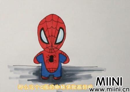 蜘蛛侠简笔画怎么画?蜘蛛侠简笔画步骤教程