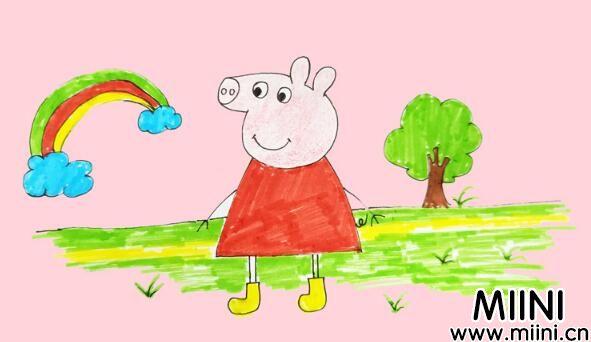 动画片小猪佩奇,主人公佩奇简笔画教程