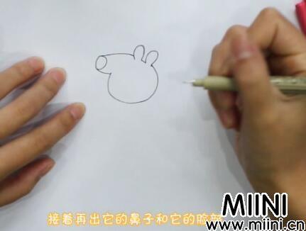 小猪佩琪简笔画怎么画?小猪佩琪简笔画步骤教程