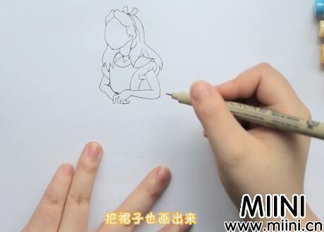 爱丽丝简笔画怎么画?爱丽丝简笔画步骤教程