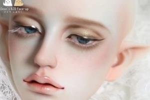 bjd娃娃的上妆过程,可以提高自己的审美哦