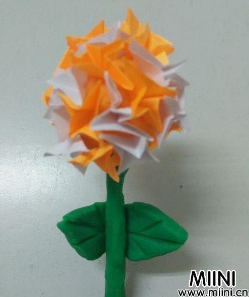 水彩绣球花