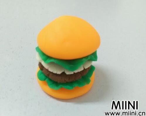 超轻粘土牛肉汉堡包教程