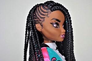 美泰狂野之心娃娃发型改造,辫子发型。