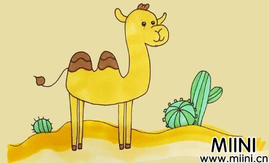 骆驼儿童简笔画步骤教程