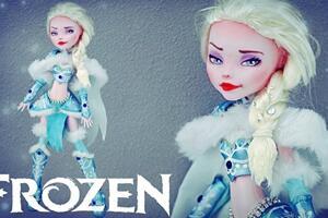 怪高娃娃改妆冰雪奇缘艾莎,狂野的一面
