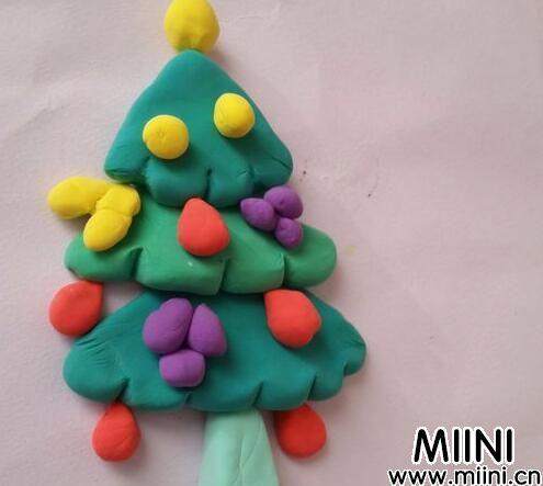 超轻粘土圣诞树