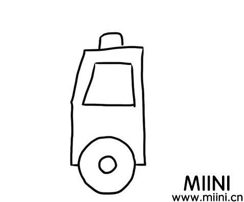 简单的消防车怎么画?消防车的画法步骤